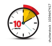 10 minutes clock face. vector...   Shutterstock .eps vector #1034647417