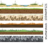 soil horizontal patterns.... | Shutterstock .eps vector #1034649121