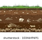 soil with dead animals.... | Shutterstock .eps vector #1034649691