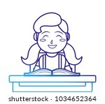girl and book design | Shutterstock .eps vector #1034652364