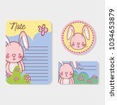 cute animals label tags and... | Shutterstock .eps vector #1034653879