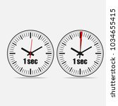 one second clock on grey... | Shutterstock .eps vector #1034655415