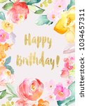 printable colorful flowers... | Shutterstock . vector #1034657311
