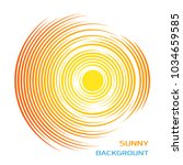 abstract symbol of the sun.... | Shutterstock .eps vector #1034659585