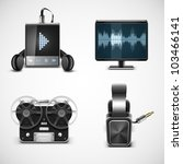 sound equipment vector icons