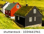 house in mykines  the... | Shutterstock . vector #1034661961