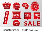 set of red sale stickers. red... | Shutterstock .eps vector #1034662267