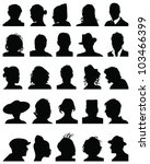 set of detailed  silhouettes of ... | Shutterstock .eps vector #103466399