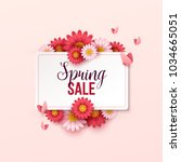 spring sale background with... | Shutterstock .eps vector #1034665051