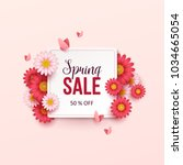 spring sale background with... | Shutterstock .eps vector #1034665054