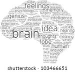 brain word cloud with grey... | Shutterstock . vector #103466651