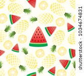 vector seamless pattern with... | Shutterstock .eps vector #1034674831