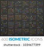 large icons set  600 vector... | Shutterstock .eps vector #1034677399