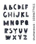 scandinavian style alphabet....   Shutterstock .eps vector #1034677411