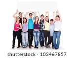 large group of cheerful people... | Shutterstock . vector #103467857