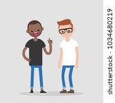 quarrel conceptual illustration.... | Shutterstock .eps vector #1034680219