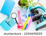 chemistry class makes chemistry ... | Shutterstock . vector #1034690035