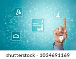 smart industry. industrial and... | Shutterstock . vector #1034691169