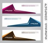 vector design banner... | Shutterstock .eps vector #1034691679