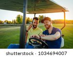 two men driving in a buggy   Shutterstock . vector #1034694007
