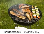 barbeque in the garden  really... | Shutterstock . vector #103469417