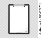 black clipboard with blank... | Shutterstock .eps vector #1034694751