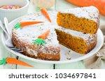 easter carrot cake   Shutterstock . vector #1034697841