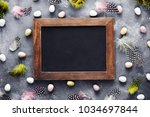 easter background with mini... | Shutterstock . vector #1034697844