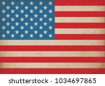 vector image of american flag.... | Shutterstock .eps vector #1034697865