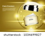 skincare product with gold... | Shutterstock .eps vector #1034699827
