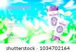 realistic skin care cream... | Shutterstock .eps vector #1034702164