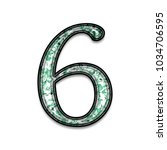 green paint splattered number... | Shutterstock . vector #1034706595