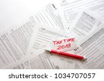 blank us fiscal documents and... | Shutterstock . vector #1034707057