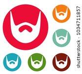 neat beard icons circle set... | Shutterstock .eps vector #1034711857