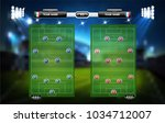 football or soccer playing... | Shutterstock .eps vector #1034712007