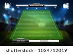 football or soccer playing... | Shutterstock .eps vector #1034712019
