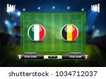 football or soccer playing... | Shutterstock .eps vector #1034712037