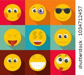 expression of emotion icons set.... | Shutterstock .eps vector #1034712457