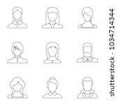 phiz icons set. outline set of... | Shutterstock .eps vector #1034714344