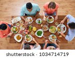 eating and leisure concept  ... | Shutterstock . vector #1034714719