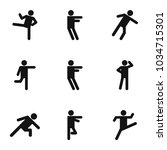 physical activity icons set.... | Shutterstock .eps vector #1034715301