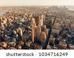 aerial view at sunset of... | Shutterstock . vector #1034716249