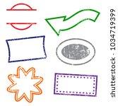 stamps frames on white... | Shutterstock .eps vector #1034719399