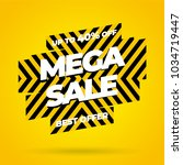 mega sale best offer banner.... | Shutterstock .eps vector #1034719447