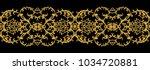 seamless pattern. golden... | Shutterstock . vector #1034720881