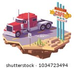 vector low poly classic...   Shutterstock .eps vector #1034723494