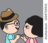 closeup lovely couple hands... | Shutterstock .eps vector #1034724931
