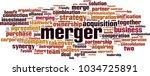 merger word cloud concept.... | Shutterstock .eps vector #1034725891