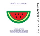 water melon slice vector icon... | Shutterstock .eps vector #1034729671