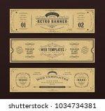 vintage website banners... | Shutterstock .eps vector #1034734381